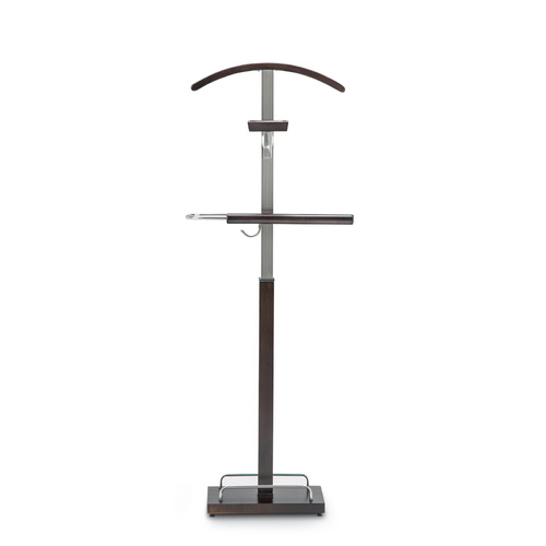 Vele 102 Polished Timber Men's Valet Stand, Expresso