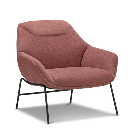 Mii Occasional Lounge Chair, Rosy Paprika