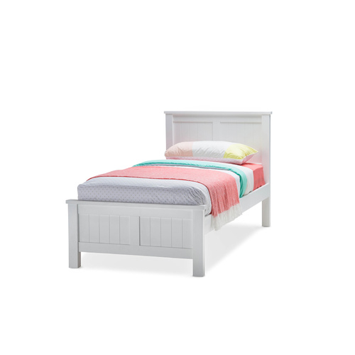 Snow Single Kids Bed Frame, White